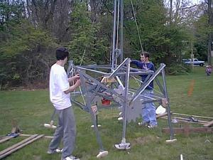 wind powered walking machine
